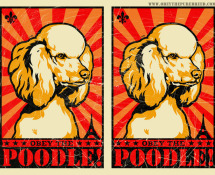 funny poodle art