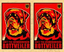 rottweiler art poster